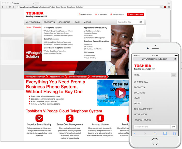 Click to Visit the Toshiba Telecom Website